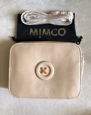 Mimco Daydream Hip Bag Leather Handbag Metallic Rose Gold Crossbody Authentic