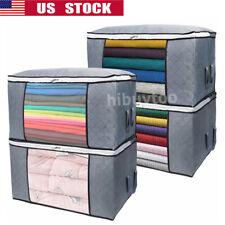 Anti-dust Home Closet Storage Bag Clothes Quilt Blanket Zipper Organizer Box New