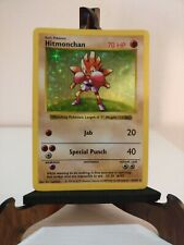 Hitmonchan SHADOWLESS Holo #7 Set Base Pokémon Very good
