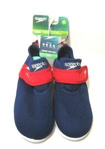 Speedo Kids Water Shoes Size XL 11-12 Shore Explore Boys Blue Red