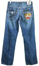 Ed Hardy by Christian Audigier Mens 27 x 33 Denim Jeans Vintage Tattoo Wear