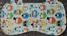 New Flannel Burp Cloths Large Soft 2 Layer Handmade owls birds animals