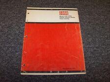 Case VVW 5500 Duplex Vibratory Roller Factory Original Parts Catalog Manual Book