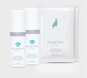 2 x Bottles of My Perfect Eyes with FREE Sheet Masks (3 Pack)