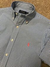 GORGEOUS POLO RALPH LAUREN BABY BLUE GINGHAM SHORT SLEEVE SHIRT XS EXTRA SMALL