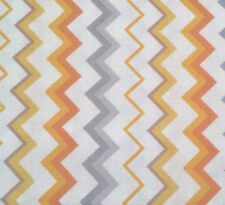 Special Delivery BTY Studio 8 Quilting Treasures Tangerine Gray White Chevron