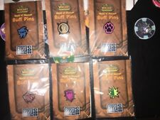 Blizzard Burning Crusade World Of Warcraft 2007 Blizzcon COMPLETE BUFF PIN SET 6