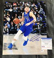 Luka Doncic Signed Autographed 11x14 Photo Dallas Mavericks Auto + PSA DNA COA!