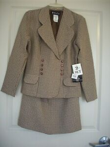 NWT All That Jazz 2 Piece Skirt/Jacket Set Brown/Tan Size 9/10