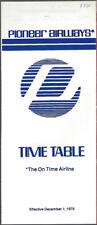 Pioneer Airways system timetable 12/1/79 [7112]