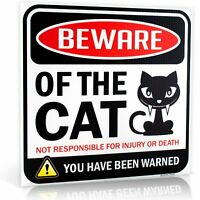 "Beware of Cat Warning Sign Size 12"" x 12"""