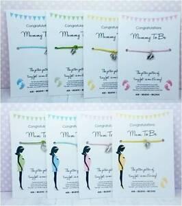 Wishing Bracelet - Mum / Mummy To Be BABY SHOWER Gift - Girl/Boy/Unisex Wish