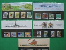 5 Royal Mail 1985 Presentation Packs. No's  160 to 164. Insects, Safety at Sea