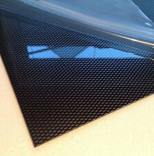 3mm Carbon Fibre Effect ABS Sheet 10 SIZES TO CHOOSE Acrylonitrile Butadiene Sty