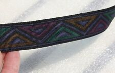 Jacquard Woven Triangle Trim 1 inch Wide Sold by the yard