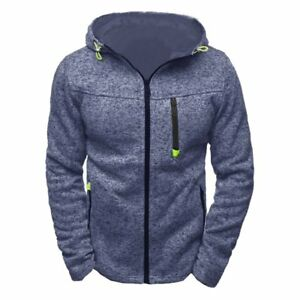 Men's Winter Slim Fit Warm Hoodie Hooded Sweatshirt Sweater Coat Jacket Outwear