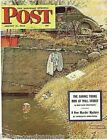 Cool Dip in the Pond Norman Rockwell Vintage Graphic Post Magazine Cover Print