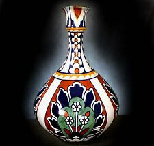 WONDERFUL Lg. BURSLEY WARE ' BAGDAD ' HAND PAINTED VASE Des. by FREDERIC RHEAD