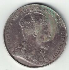 CANADA 1902 50 CENTS HALF DOLLAR KING EDWARD VII CANADIAN STERLING SILVER COIN