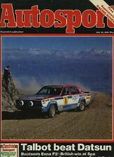 Autosport July 30th 1981 *Enna F2 & Spa 24 Hours*