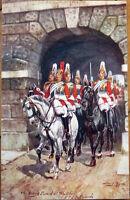 1910 Raphael Tuck, Harry Payne/Artist-Signed Postcard: Military in London - 4