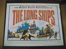 THE LONG SHIPS, orig LCS (Richard Widmark, Sidney Poitier, Russ Tamblyn)