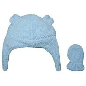 NWT Carters Baby Girl Pink Boy Blue Navy Sherpa Cozy Hat Mittens Set 6-18 M NEW