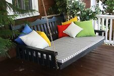 Outdoor 6' Royal English Garden Porch Swing Bed *8 Paint Colors* Oversized Swing