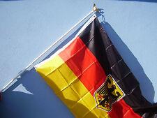 Fahnenstange Alu weiß mit goldfarbenen Adler Fahnenmast Fahne Flaggenstange neu