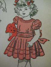 Vintage Advance 4772 LACE RUFFLED DRESS & SASH Sewing Pattern Child Girl Sz 6