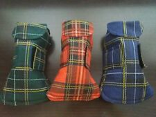 dog coat. Cotton linen size large. 3 colours.  Red.  Blue.  Or green