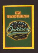 Oakland Athletics--1984 Pocket Schedule--BART