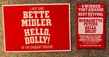 Hello Dolly postcard - Bette Midler - Brand new -  *with Flyer* Free shipping!