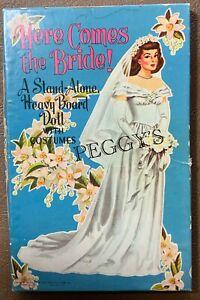 "1959 SAALFIELD PUBLISHING ""HERE COMES THE BRIDE!"" SET #2882 CLOTHES CUT & UNCUT"