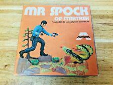 VHTF Vintage Aurora Star Trek Model Kit Mr Spock Of Startrek 1970s BNIB Kit 922