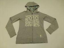 Girls Size 10/12 Grey 2010 Vancouver Olympics Hoodie Sweatshirt Great Condition