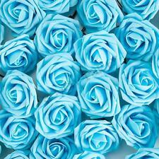 100 Artificial Foam Roses Flowers Wedding Bride Bouquet Party Flowers Home Decor