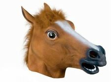 Pferde Maske Gummi Pferdemaske Gaul Pferd Hengst Masken Tiermaske Horse