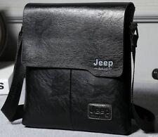Jeep Men's Business Shoulder Cross body Casual Messenger Leather Handbag Bag