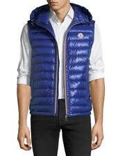 NEW Moncler Hooded Quilted Down Gilet Vest Blue Jacket 2018 Size 3