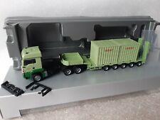 MAN TGS LX  6x6 Allrad   Geiger Bau   Semitieflader Rungen + 2x 10 FT Container