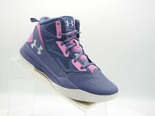 Under Armour Jet Mid 1274069-767 Sz 7Y Purple Pink Leather Basketball Kids Shoes