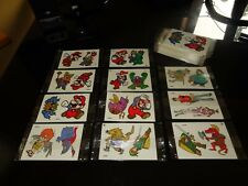 NINTENDO Super Mario Zelda Captain N Vintage Sticker Card Set 10 PACKS Rare 80's
