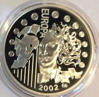 2002 Silver Coin 1.5 Euro Centennial of Tour de France Time Trial Paris Europa
