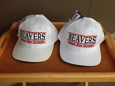Vintage Oregon State BEAVERS NCAA  caps by The Game.  DEADSTOCK NOS-2 cap lot