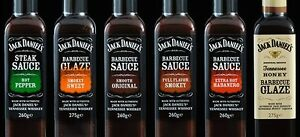 Jack Daniels Sauce Full Flavour Smokey, Smooth Original, Honey BBQ Glaze, Chilli