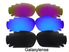 Galaxy Replacement Lenses For Oakley Jawbone Sunglasses Black&Blue&Purple 3Pairs