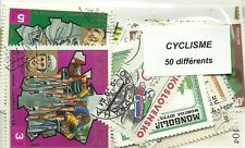 "Lot timbres thematique "" Cyclisme"""