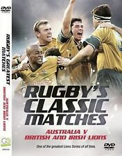 RUGBY CLASSIC MATCHES DVD NEW AUSTRALIA V THE BRITISH LIONS UNION GREATEST GAMES