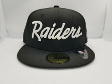 NEW ERA 59FIFTY FITTED HAT.  NFL.  OAKLAND RAIDERS.  BLACK.